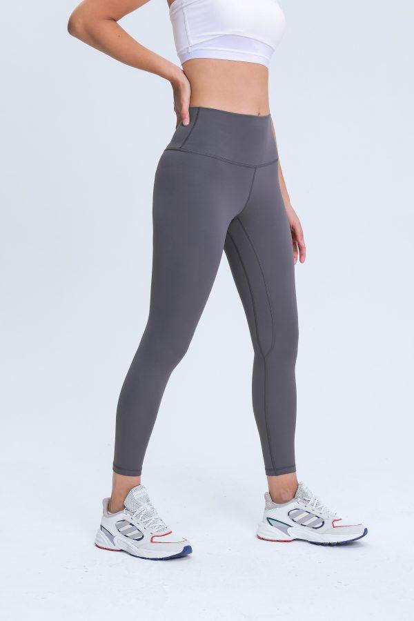 Yoga Pants Grey Wholesale3 scaled - Yoga Pants Grey Wholesale - Custom Fitness Apparel Manufacturer