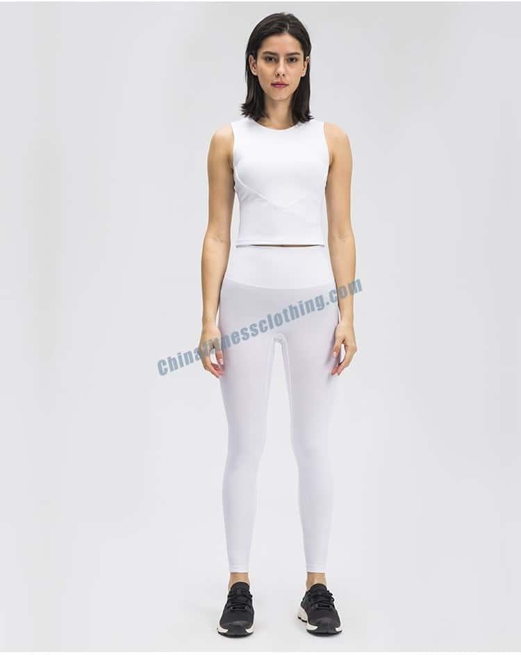 White Workout Leggings Wholesale
